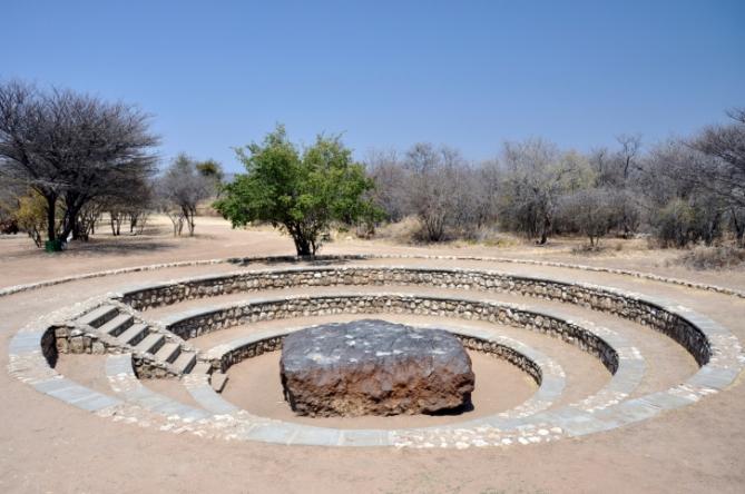 Namibia - Reisen - Hoba Meteroit