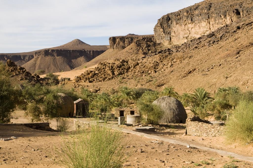 Afrikanisches Dorf - Mauretanien