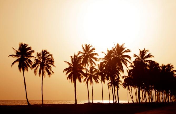 Benin - Reisen - Sonnenuntergang