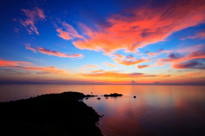 Guinea-Bissau - Reisen - Sonnenuntergang