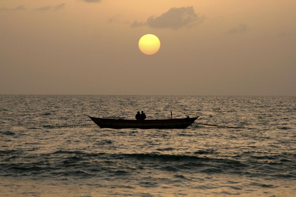 Boot - Sonnenuntergang - Sierra Leone
