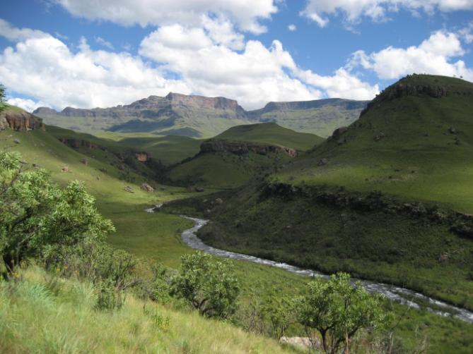 Drakensberge - Wanderung Südafrika