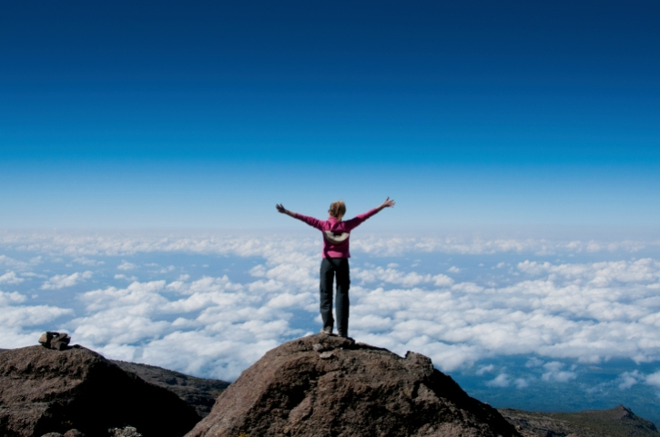 Am Gipfel - Kilimandscharo Trekking Reise