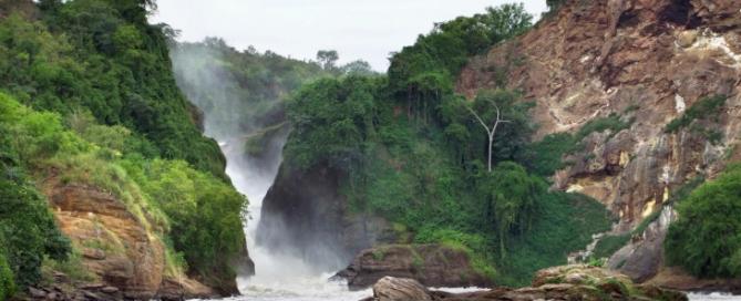 Blick auf die Murchison Falls - Uganda Reise