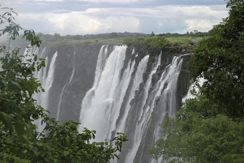 Blick auf die Victoria Falls