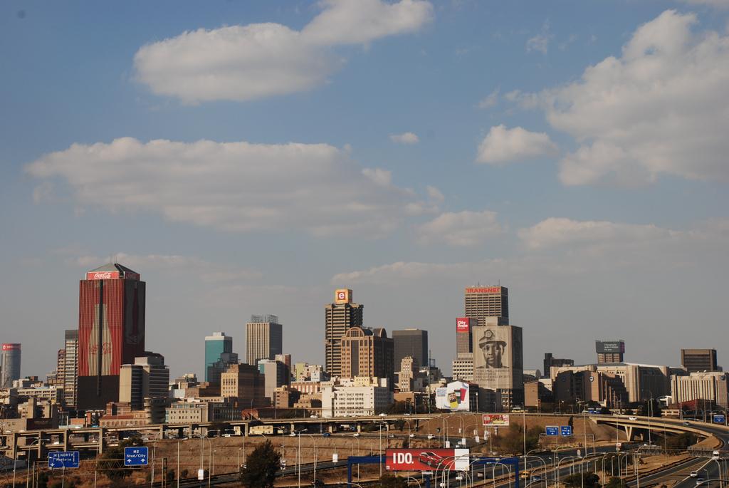 Die Skyline von Johannesburg