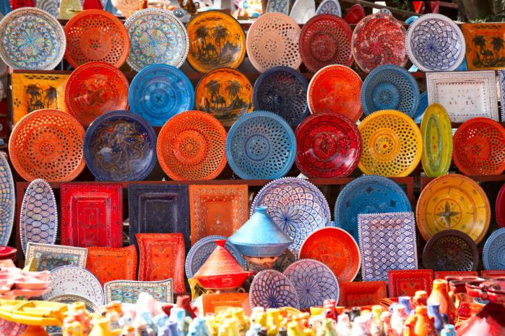 Auf einem Markt in Marokko