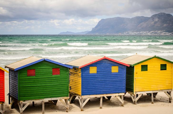 Strand in Muizenberg, Kapstadt
