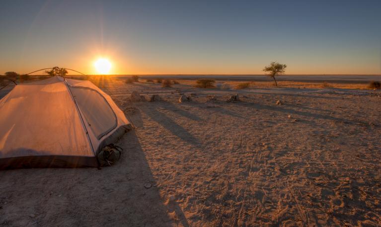 Camping in Botswana - Sonnenuntergang