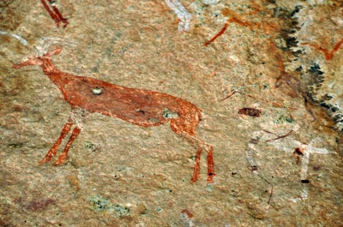 Felsmalereien, Brandberg in Namibia