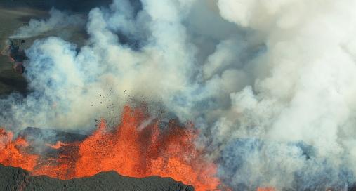 Pico do Fogo - Aschewolke Kapverden