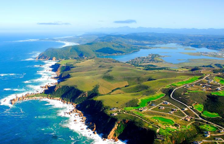 Blick auf Knysna an der Garden Route in Südafrika