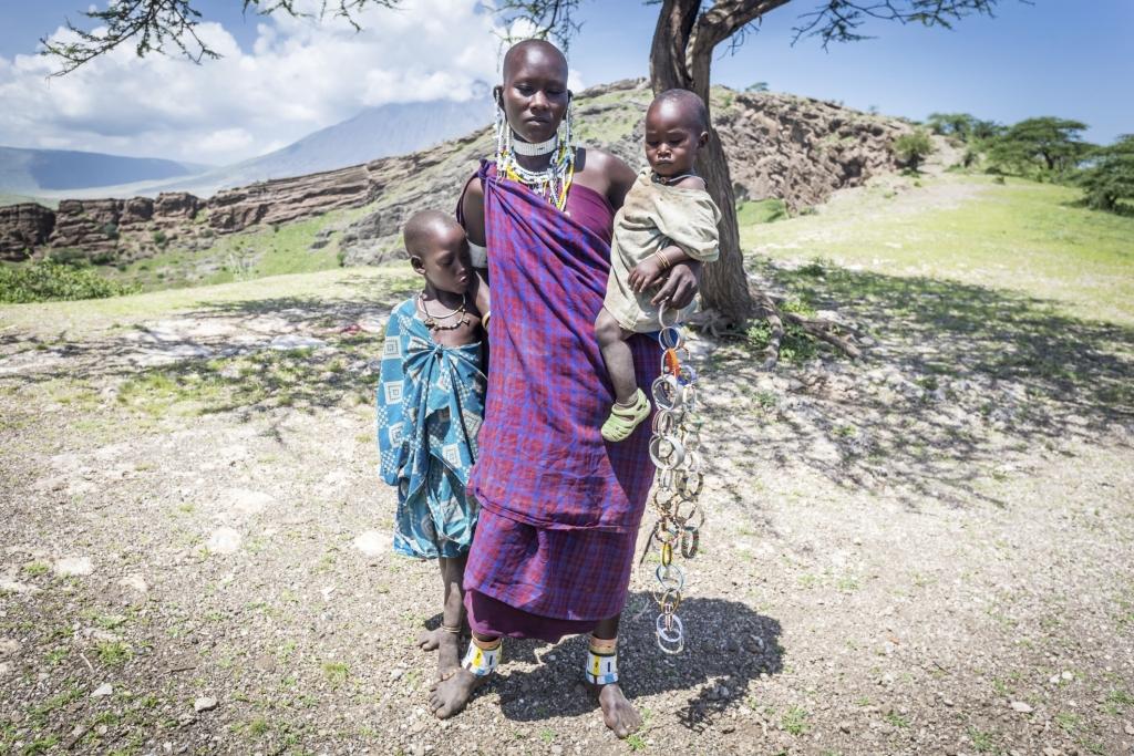 Massai Familie - Kenia Safari