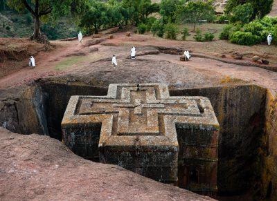 Aethiopien Rundreise -Church of St George - Lalibela - Ethiopia