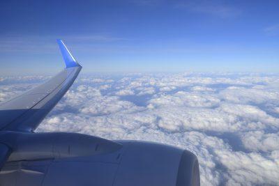 Im Flugzeug ueber Sri Lanka