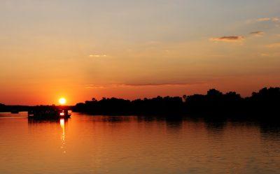 Sonnenuntergang - Chobe - Botswana