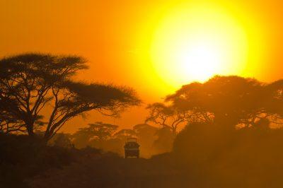 Sonnenuntergang - Serengeti - Tansania
