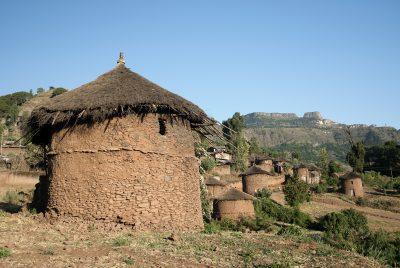 Traditionelles Dorf - Lalibela - Aethiopien