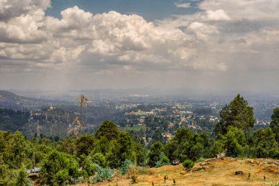 Äthiopien Rundreise Ansicht vom Berg Entoto an Addis Abeba