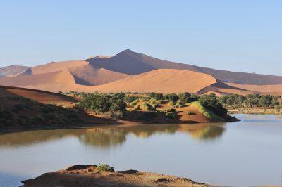 Wasser im Sossusvlei - Namibia