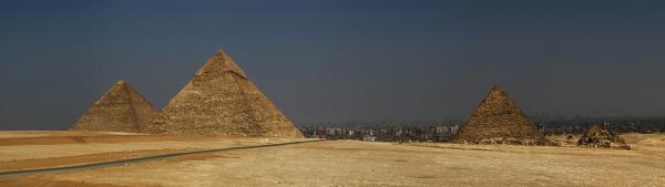 Pyramiden von Gizeh - Panorama Foto