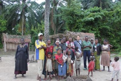 Foto mit dem Bewohner des Dorfes, in dem ich übernachten durfte