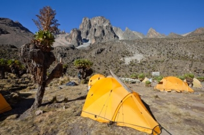 Camp auf dem Mount Kenia