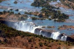 Victoria Falls aus dem Flugzeug