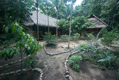 Eine Lodge in einem Nationalpark in Burundi