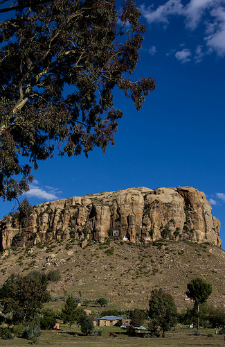 Bergig ist es in Lesotho