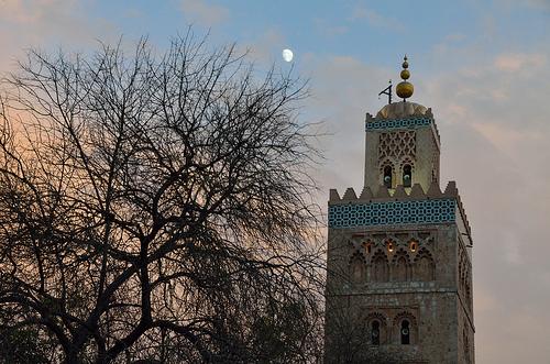 Der Mond über Marokko